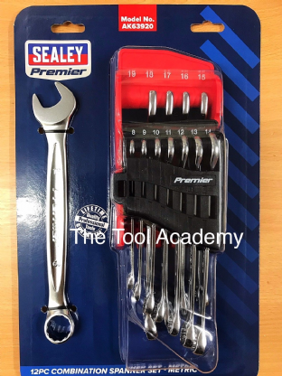 Sealey AK63920 12 Piece Metric Combination Spanner Set